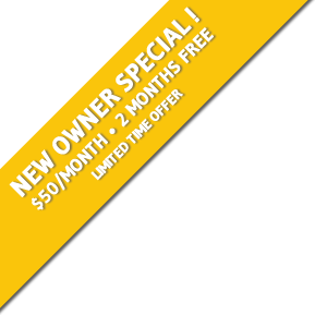 NEW OWNER SPECIAL! $50/MONTH - 2 MONTHS FREE - LIMITED TIME OFFER